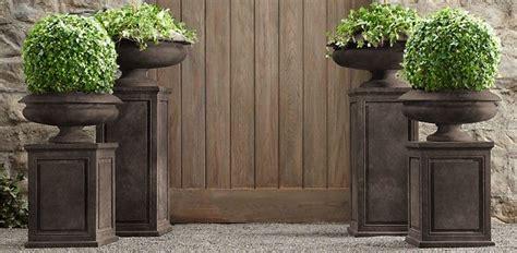 restoration hardware modern garden urns attrium ideas