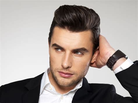 receding hair slicked back men with receding hairlines look best with short haircuts