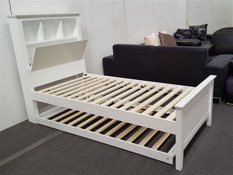 bed on wheels furniture place kaylee king single bed with box headboard pull out trundler bed on