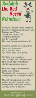 Rudolph The Nosed Reindeer Lyrics Like A Light Bulb by Print Rudolph The Nosed Reindeer Song Lyrics