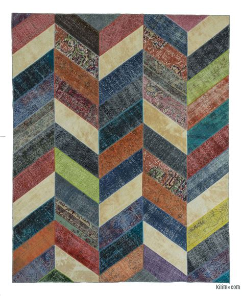 Patchwork Rug by K0020185 Multicolor Dyed Turkish Patchwork Rug