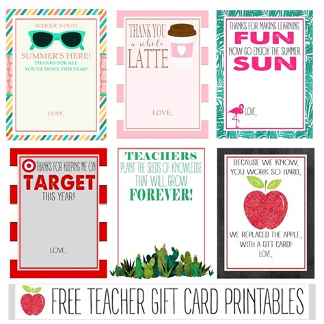 Free Printable Gift Cards