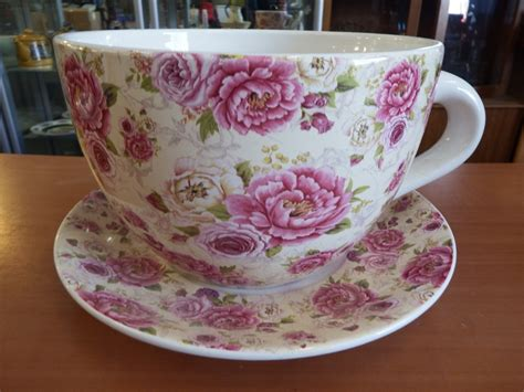 Large Tea Cup And Saucer Planter Tea Cup Planter