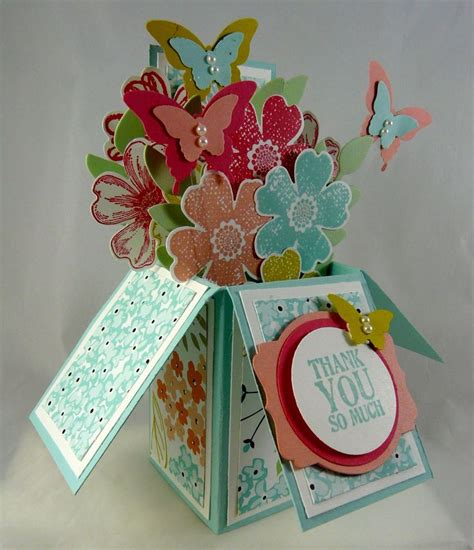 Diy Papercraft Pop Up Card Bunga Pansy 47 best stin up card in a box images on card boxes birthdays and card crafts
