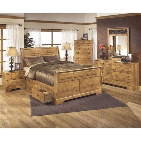 bittersweet bedroom set ashley bittersweet 6 piece wood king drawer sleigh bedroom