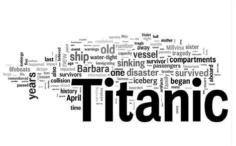 titanic film words digital humanities
