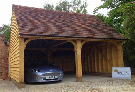 Oak Car Port by Oak Framed Garages Carports Imperial Framing