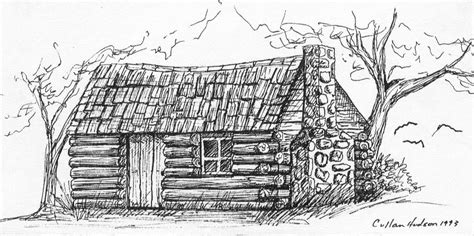 log cabin drawings free coloring pages of log cabins