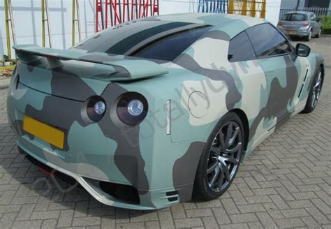 nissan gtr wrapped camo totally dynamic nissan gtr vinyl wrapped in an arctic