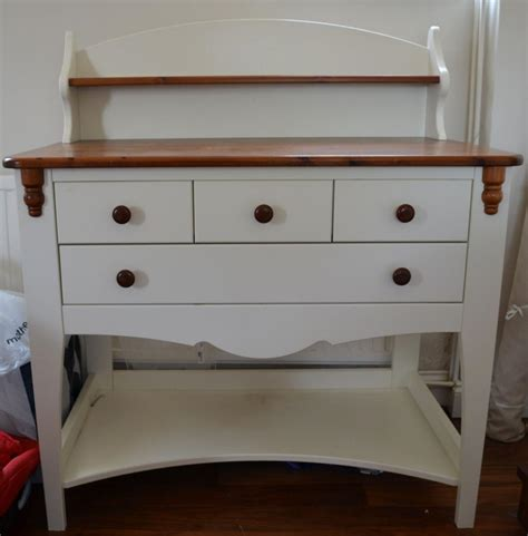 eurobaby baby changing table unit in white pine with