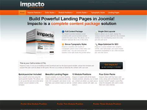 Joomla Landing Page Template impacto joomla template joomla landing page template for