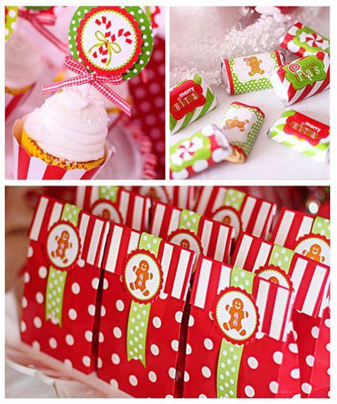 christmas candy party favor ideas birthday ideas