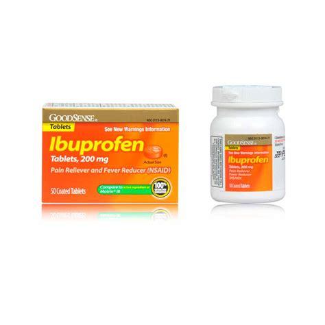 Obat Aspirin Dan Ibuprofen goodsense ibuprofen reliever fever reducer orange coated tablets 200 mg 50