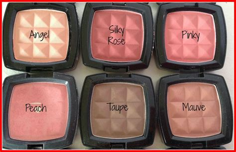 nyx powder blushes collection review and swatches