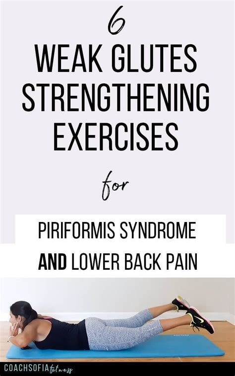 6 weak glutes strengthening exercises alleviate piriformis and lower back 5 minute low