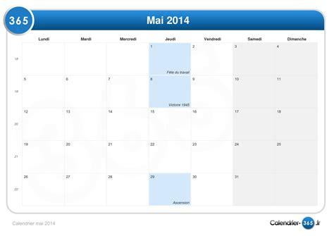 Calendrier Mai Calendrier Mai 2014