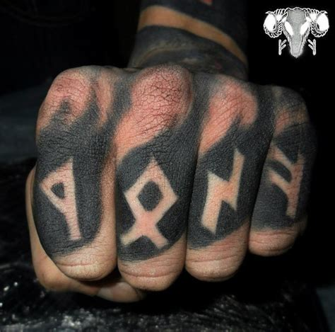 runic lettering tattoo 30 amazing finger tattoos best tattoo ideas gallery