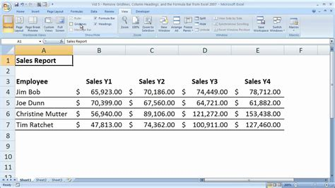 format excel gridlines excel formatting 5 remove gridlines headings and the