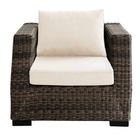 fauteuil jardin resine tressee fauteuil de jardin en r 233 sine tress 233 e marron bali maisons du monde