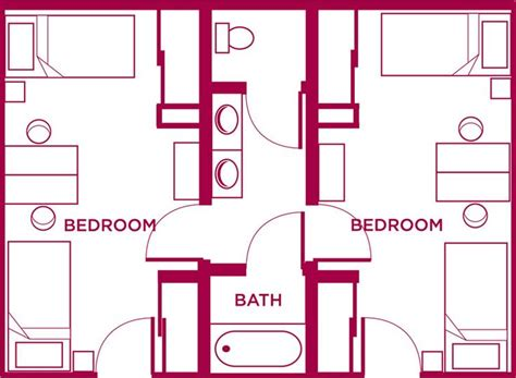 Shared Bathroom Floor Plans | shared bathroom with bath house floor plans pinterest