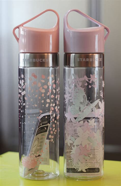 Starbucks Bottle Dan 2016 korea starbucks 2016 cherry blossom butterfly clay water bottle 591ml set starbucks