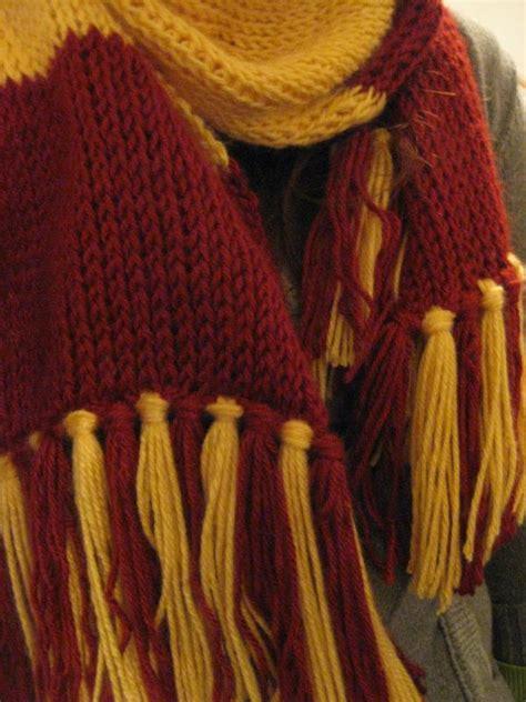 harry potter knitting patterns crochet tunisian harry potter scarf happy 15th