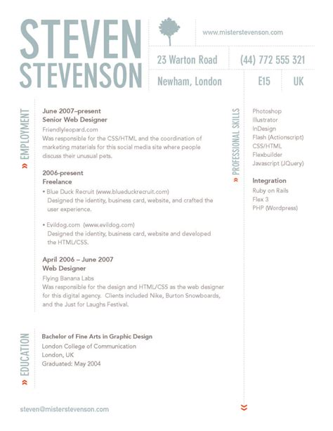 creative cv layout design sophie wilson personal professional development ppd