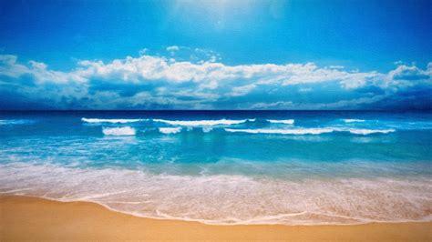 beach sea horizon sky clouds wallpapers hd desktop