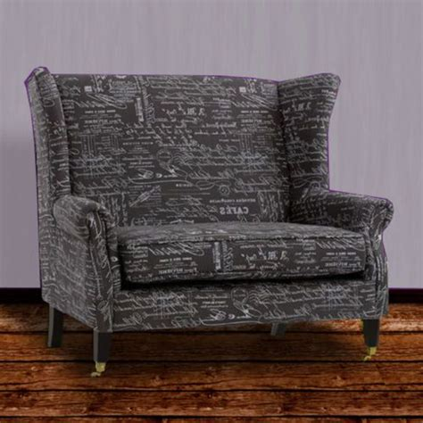 traditional settees french script wingback settee transitional loveseat chair