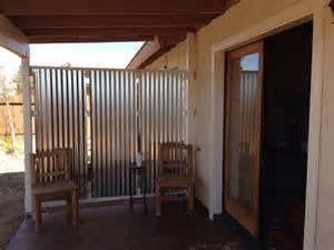 diy corrugated privacy screen and wind originator tina tretina patio furniture and