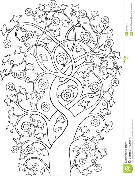 Ornate Vintage Tree Silhouette Outline Royalty Free Stock Photography Image 20156077 Vintage Family Tree Royalty Free Stock Images Image 32018779