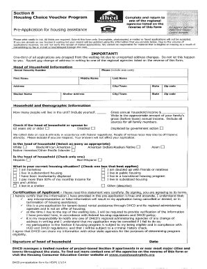 Section 8 Housing Applications by Alabama Dhcd Fill Printable Fillable Blank