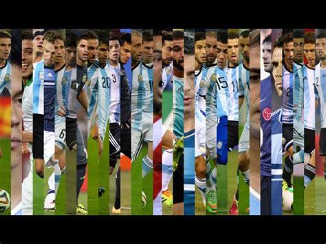 argentina mundial brasil 2014 los convocados de argentina para el mundial