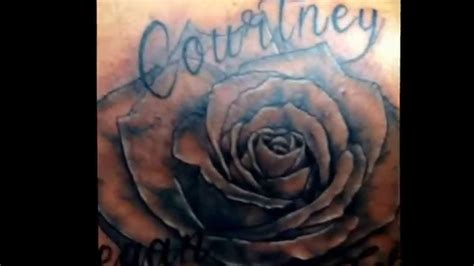 youtube rose tattoo cover up with a n name tattoos