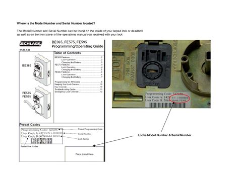 Schlage Door Knob Manual by Schlage Door Fe595 User S Guide Manualsonline