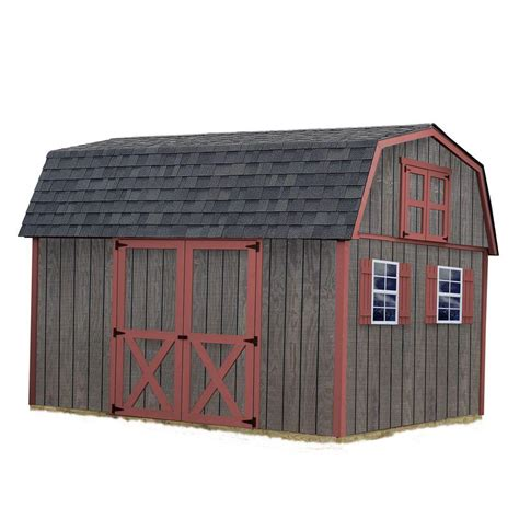 Home Depot Wooden Sheds by Best Barns Meadowbrook 10 Ft X 12 Ft Wood Storage Shed