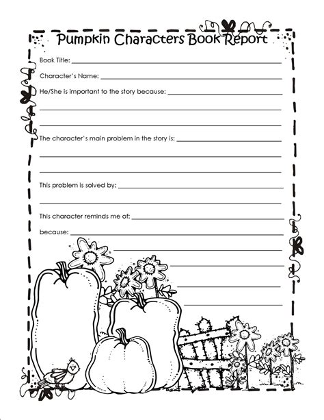 pumpkin book report template 2nd grade book report template search results calendar
