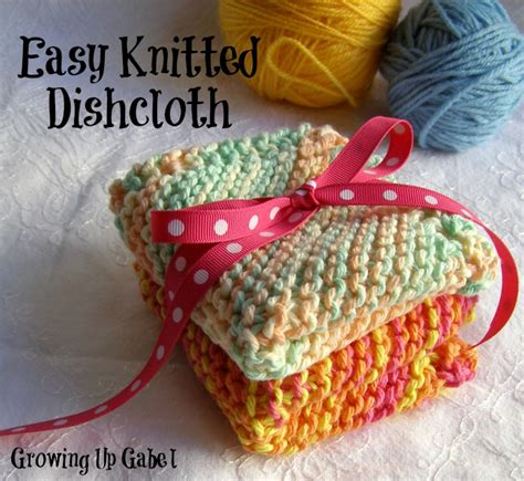 simple knitted gifts easy knit dishcloth