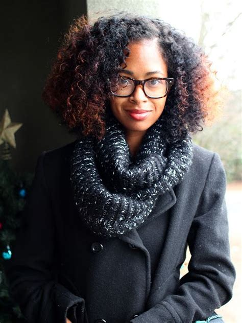 curly hairstyles glasses short curly kinky hair brown highlights glasses