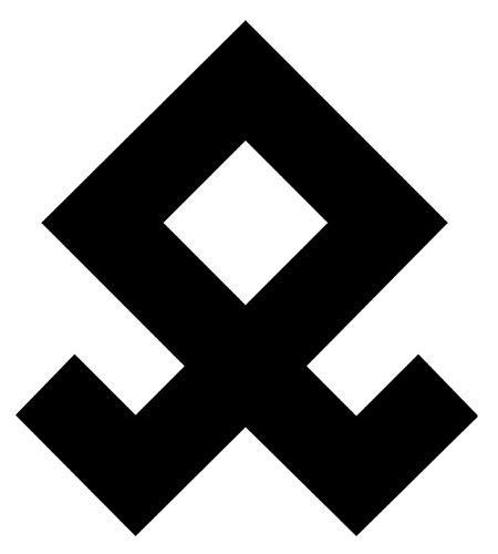 Rookie Decal Neo Redblue White odal rune vinyl decal sticker asatru thor pagan viking