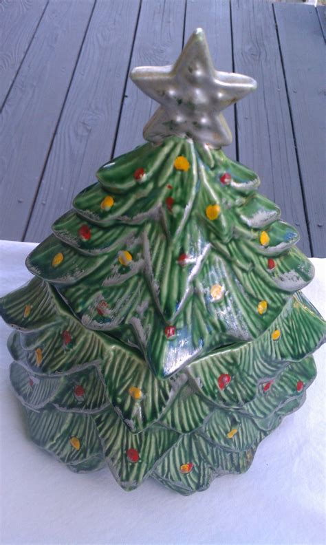 vintage mccoy christmas tree cookie jar hard to find