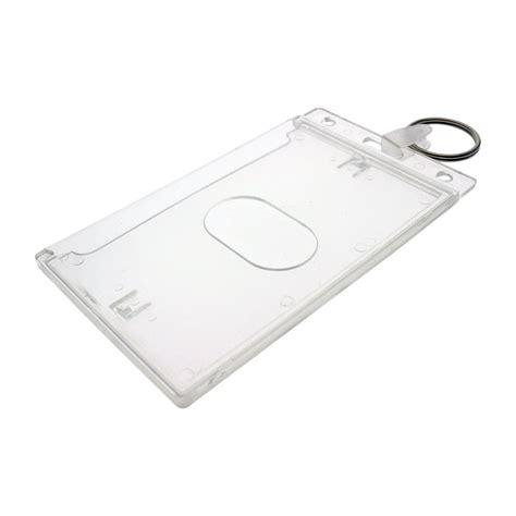 Card Holder Key Ring fuel card holder key chain gas card key ring id