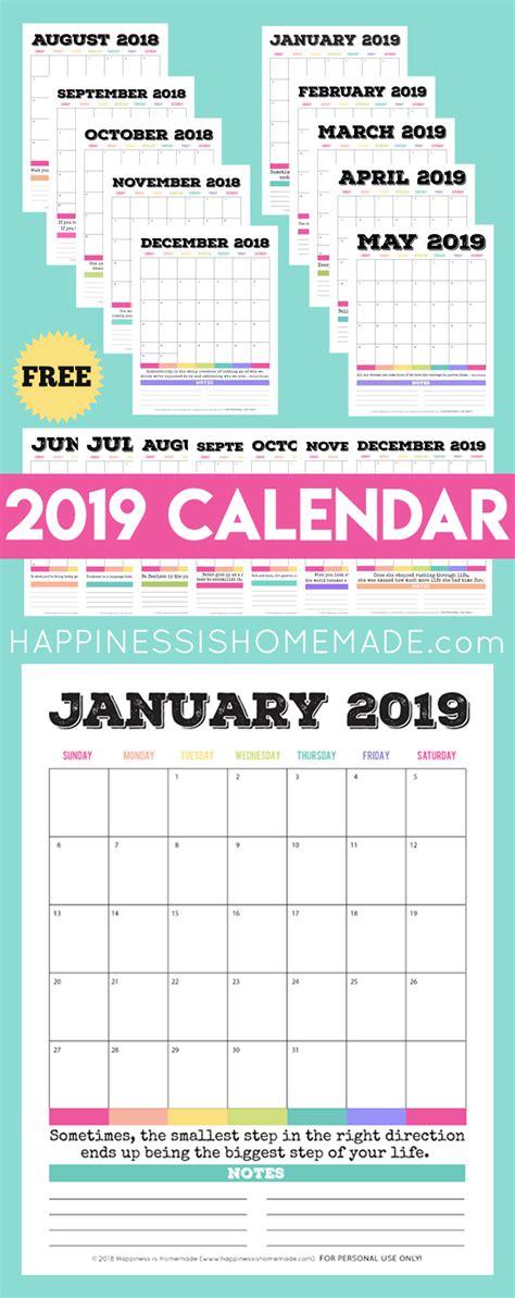 printable calendar printable monthly calendar happiness  homemade