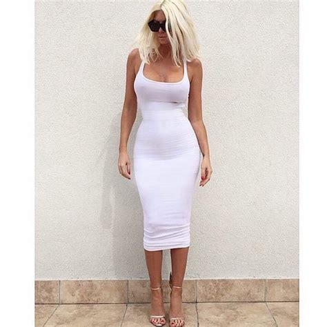 Afida Dress 4 dress mischievous socialite bodycon midi dress white
