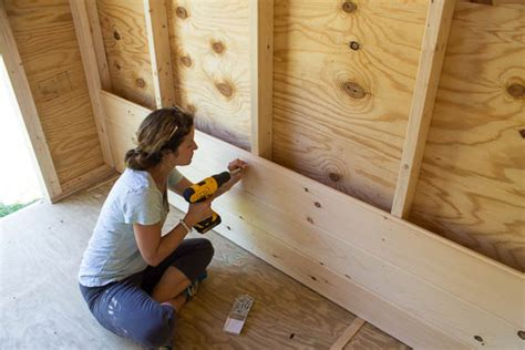 Installing An Interior Wall by So What Is Shiplap Rustic Crafts Chic Decor