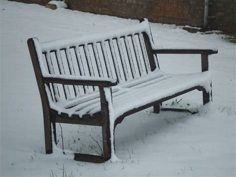 bench snow g i deon photography
