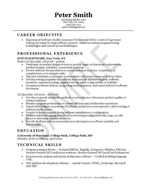 software qa lead resumes resume sample for qa manager resume
