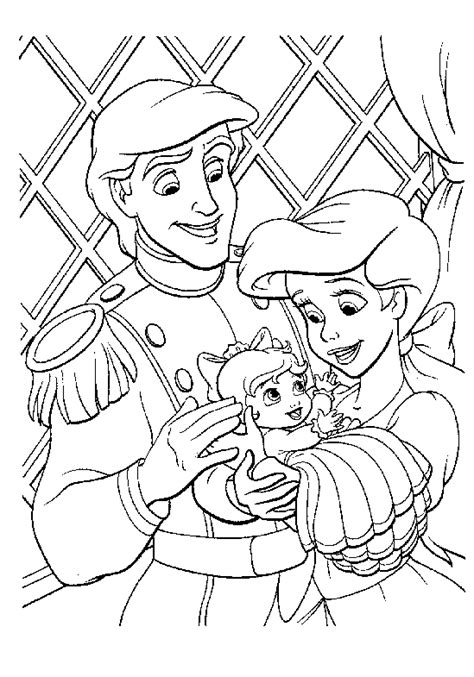 free coloring pages of little mermaid 2