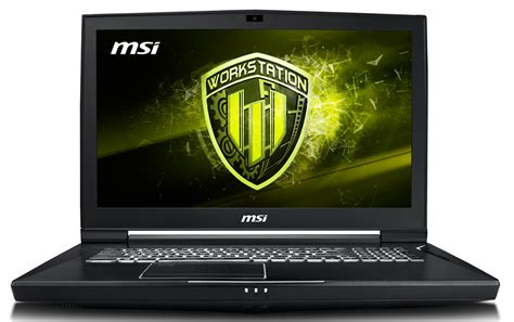 buy msi wt75 8sk 8th generation xeon e workstation 4k laptop at evetech co za