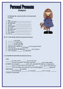 compound personal pronouns worksheets for grade 4 1000